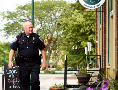 Ballard focuses on community aspect of community policing in downtown Elkhart